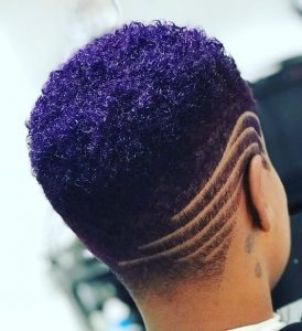 round shaved afro hairstyle for elegant ladies - instagram