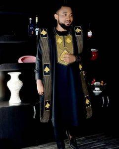 royal prince navy blue ankara agbada - etsy
