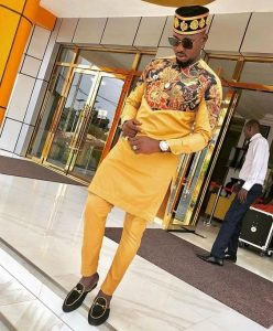 royalty ankara senator suit with royal cap - blog stylishgwinafrica