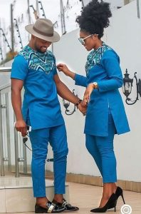 senator jeans with a touch of ankara for latest couples - material zimbanews