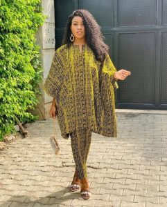 short ankara agbada with pause for pregnant mothers - ykmmedia