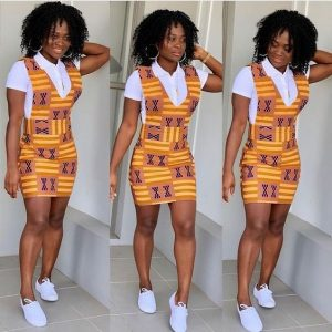 short pinafore ankara gown for ladies - shayla thebraelyn