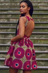 show back ankara short gown for teenage ladies - sisicouturevogue