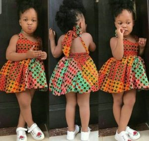 show back short ankara dress for little girls - brandedgirls