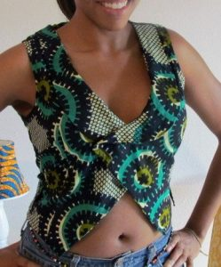 show belly ankara waistcoat with jeans trousers for ladies - etsy