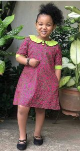 simple ankara gown for girls with small cape - pinterest
