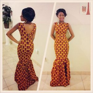 simple ankara mermaid gown - pinterest
