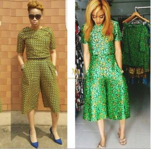 simple ankara palazzo short with a matching blouse - momoafrica