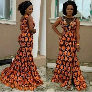 simple but stunning ankara mermaid gown - ankarahub