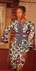 simple but stylish ankara skirt and blouse with waist belt - momoafrica