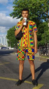 simple kente shirt and short for men for casual outing - momoafrica