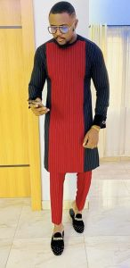 simple long sleeve ankara native men's senator style - pinterest