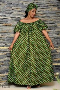simple off shoulder free ankara maxi with matching hair tie - pinterest co uk