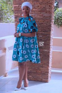 simple short ankara maternity gown for church service - newankarastyle