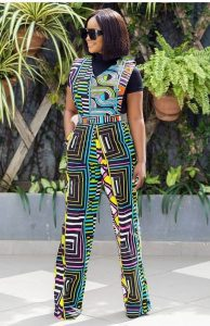 simple short sleeve ankara palazzo jumpsuit with inner wear - etsy