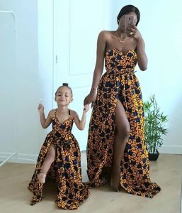 slay gown for mum and her kid girl - rightmakeup16 blogspot