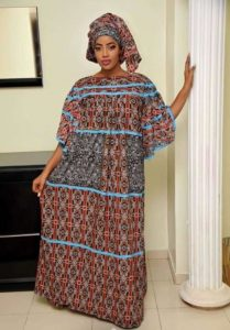 specially designed fitted long ankara maternity gown for beautiful mothers - limametti