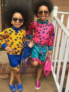star african print styles for two young girls with sunglasses - pinterest