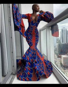 stylish african mermaid gown - pinterest