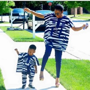 stylish ankara agbada style for mum and son - momoafrica
