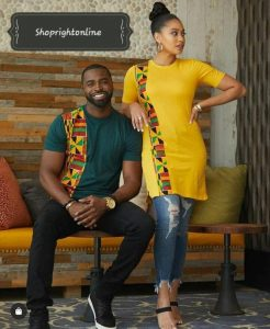 stylish ankara and jeans fashion style for couples - etsy