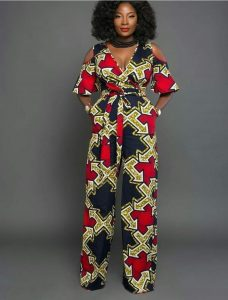 stylish ankara jumpsuit style for young mums - switchnaija