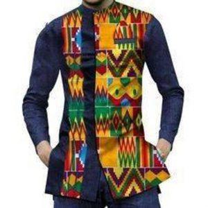 stylish plain ankara plus kente combo for men - etsy