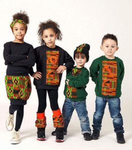 sweater with kente fabric design for cute siblings - pinterest