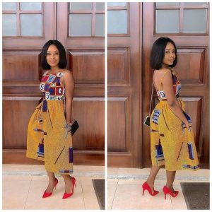 sweet queens ankara palazzo short with a strap sleeve top - correctkid