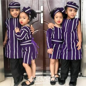 sweet traditional ankara style for two kid sister - bellanaija