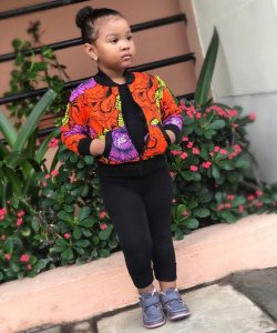 sweet young girls ankara jacket with trousers - afrocosmopolitan