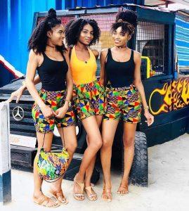 teen triplets ankara shorts style - nataliestore