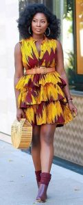 teenage girls hot ankara gown with a hand bag and a boot shoe - momoafrica