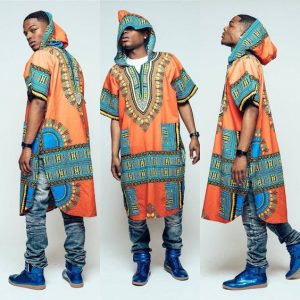 terrence davidson mid length hooded kente dashiki - instagram
