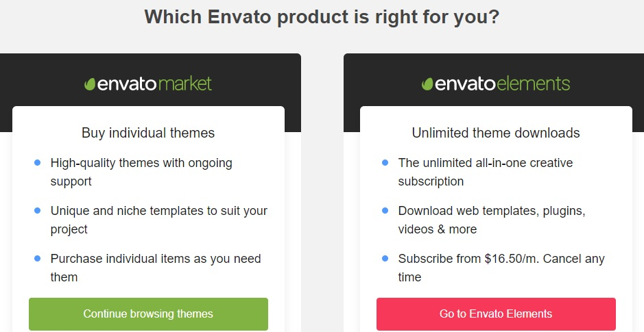 theme forest envato market subscription plans