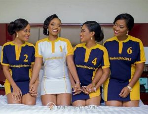 they posed with jersey wears for pre wedding picture - loveweddingsng