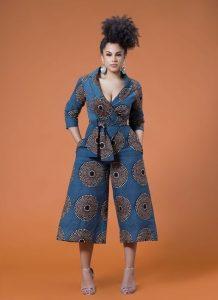 three quarter ankara palazzo short style - momoafrica