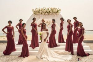 trains scatter round the bride - bellanaija