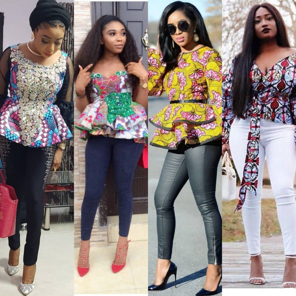 trending ankara and jeans combination fashion styles