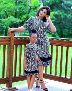 trending simple ankara gown for mum and her little daughter - mammypi