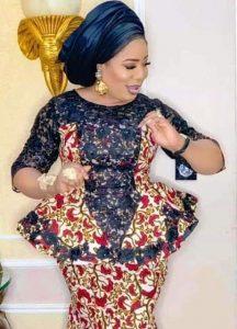 two ankara patterns skirt and blouse for cute queens - moreburger garibimsi