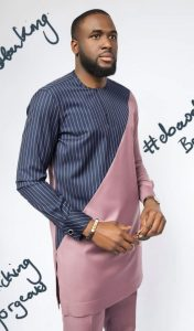 two colours ankara plain print senator style for cute guys - pintze site