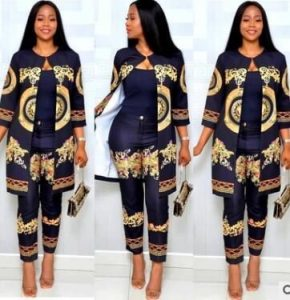 two piece african women suit with trousers - katscloset-clothingandaccessories