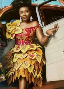 unique ghana fabric style for short gown - fashionruk