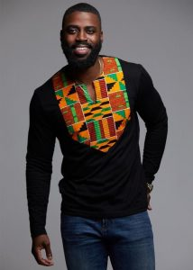 you can customize a polo with a kente fabric design big mens fashion style- diyanu