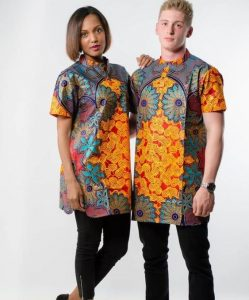 young couples ankara senator shirt with black trouser - etsy
