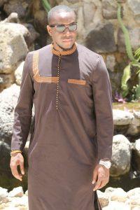 african men in diaspora ankara print kaftan style - awalebiz