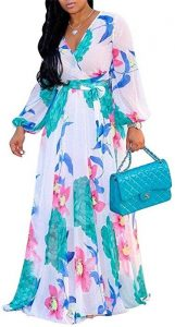 chiffon ankara print kaftan maxi for moms - amazon