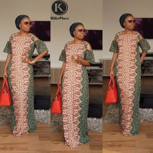 cute classy ankara kaftan with cute design - instagram