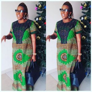 granny simple ankara kaftan gown with unique embroidery - instagram